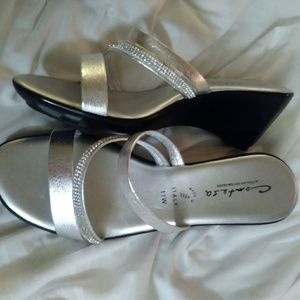 Shoes - Silver wedges
